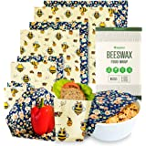 HEYECO Involucri di Cera d'Api, Organico Cotone Reusable Beeswax Food Wrap, Ecologico Biodegradabile, Zero Waste