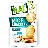 N.A! Nature Addicts - Rice Crackers Sel de Mer - Crackers Fins de Riz, Légers et Craquants - 65% de Matières Grasses en Moins