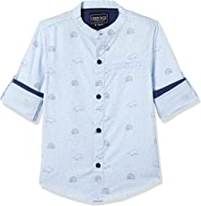 Cherokee Boys' Plain Regular Fit Cotton Shirt