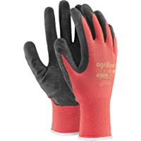 24 PAIRS NEW LATEX COATED WORK GLOVES SAFETY DURABLE GARDEN GRIP BUILDERS (S - 7)