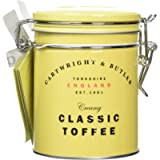 Cartwright & Butler Sea Salted Toffees Tin   Buttery and Chewy Toffee   Embossed Clip-Lid Tin   Traditional All Butter…