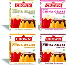 Crown Milk Pudding Grass 320g (80g x Pack of 4)
