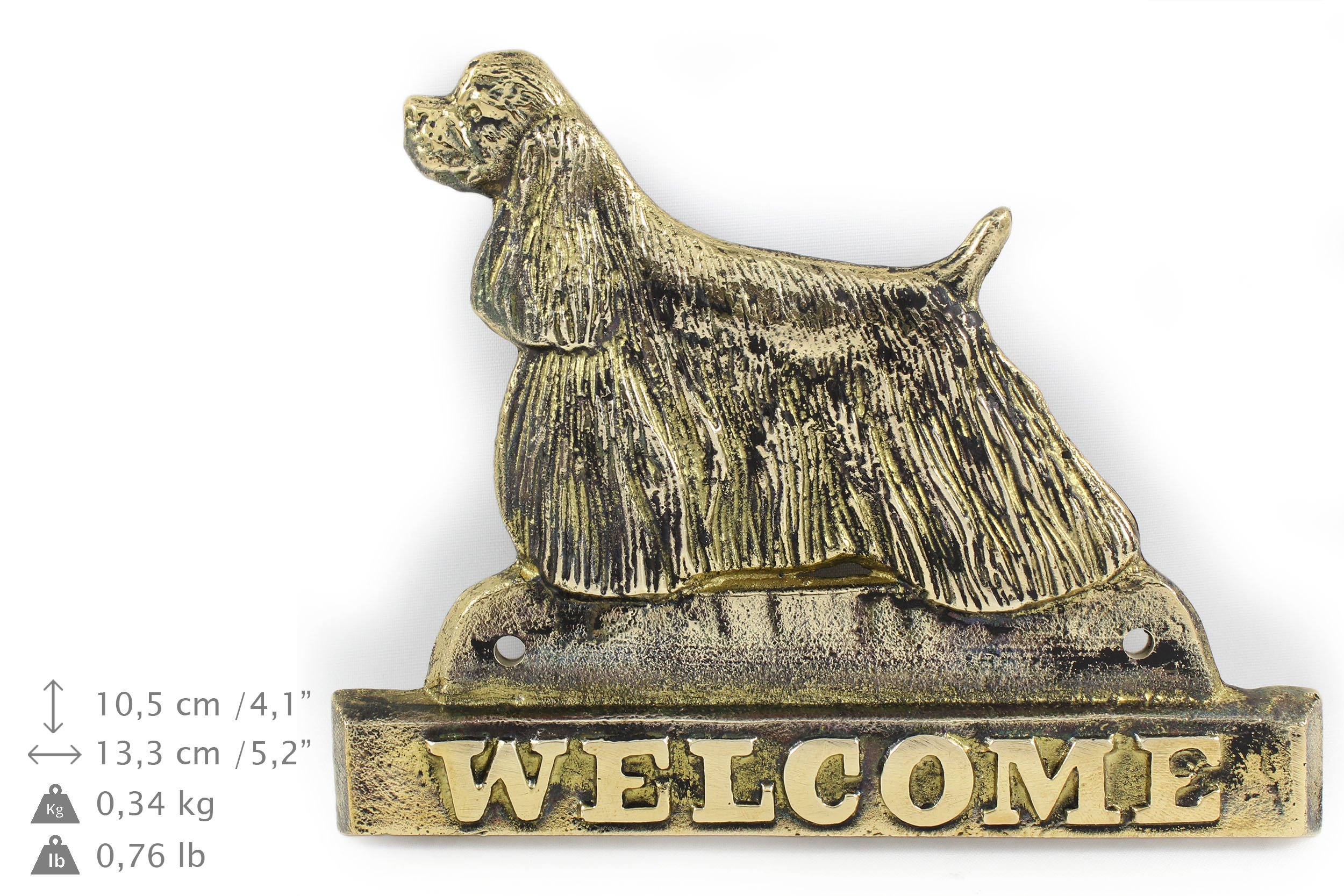 American Cocker Spaniel, welcomes plaques hangers limited ArtDog