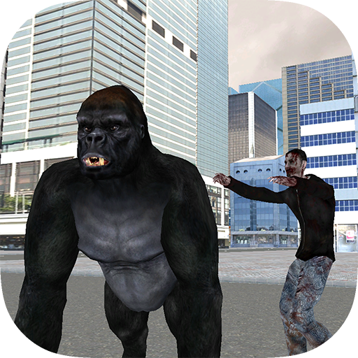 Real Gorilla vs Zombies - City (Spiele Zombie Shark)