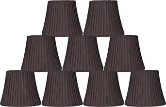 Urbanest Box Pleated Mini Chandelier Lamp Shade, Silver, 3x6x5