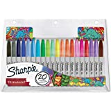 Sharpie marqueurs indélébiles | pointe fine | assortiment de couleurs à encre permanente | édition limitée | Lot de 20