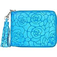Creature Blue Color Designer Floral Print Zipper Wallet for Girls(Color-Blue||ZWL-07)