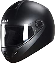 Steelbird SB-39 Jolt 7Wings Classic Full Face Helmet (Large 600 MM, Black with Plain Visor)