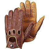 Hungant Herren Autofahrer Handschuhe Lederhandschuhe Farbe Cognac Tan