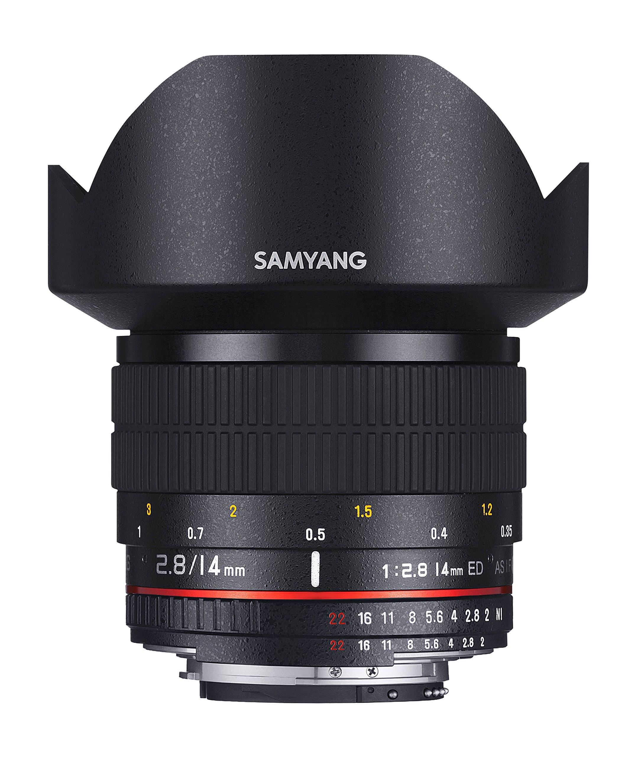 SAMYANG Obiettivo AE 14 mm f/2.8 ED IF UMC Aspherical - grandangolare per fotocamere digitali Nikon