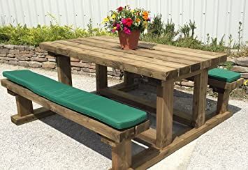 Picnic Bench Cushion   Various Sizes And Colours Available (150cm, Forest  Green)