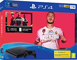 Sony PlayStation 4 1TB Console (Black) with FIFA 20 Bundle