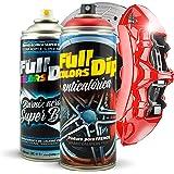 Kit Pintura para Pinzas de Freno Super Brillo en Spray 400ml (x1 Spray Pintura + x1 Spray Barniz Brillo) - Fácil aplicación -
