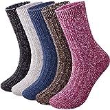 5 Pairs Thermal Women Socks Wool Ladies Warm Socks Size UK 5.5-10 Multipack