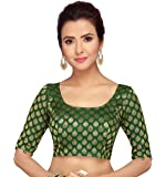 STUDIO Shringaar Women's Saree Blouse With Embroidered Sleeves
