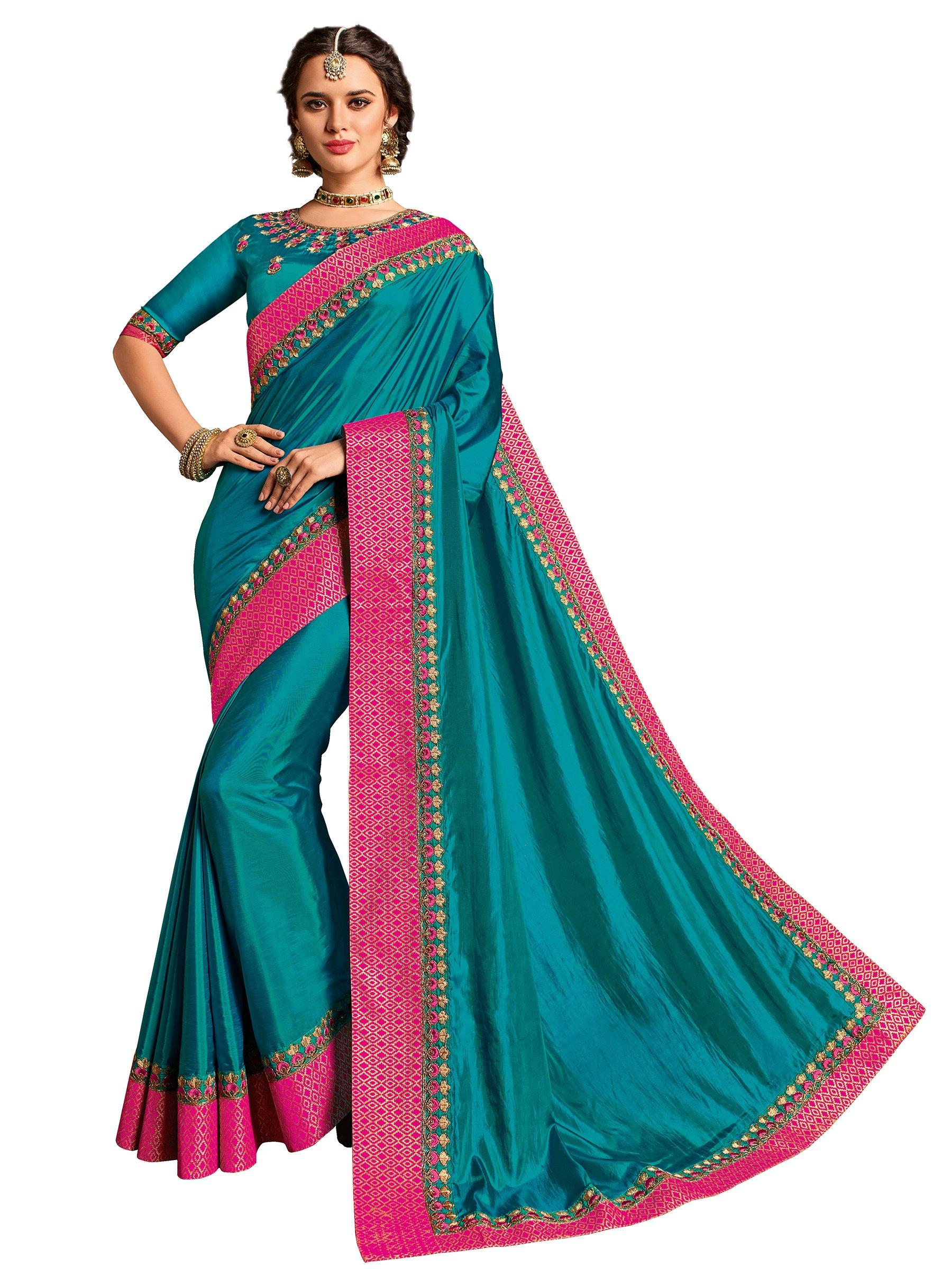 94347b93941 Indian Women peacock green color two-tone silk Saree - lali mix india