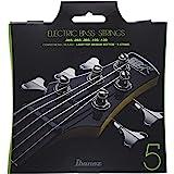 Ibanez IEBS5C Jeu de cordes pour basse électrique, 5 cordes/Light pour les aigus, Medium pour les graves, à revêtement
