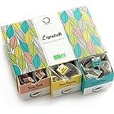 Doos met Biologische Premium Thee L'ESSENTIELLE | Assortiment van 6 Theesoorten, 48 piramidevormige zakjes | Geschenkidee