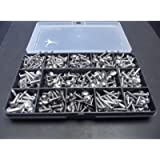 Monkeyjams' Shed 320 Assorted No.6 8 & 10 A2-70 Stainless Steel Flange Pozi Head Self Tapping/Trim Screws