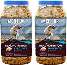 Meatup Chicken Flavour Real Chicken Biscuit, Dog Treats,500g (Buy 1 Get 1 Free)