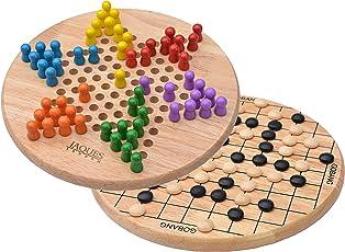Jaques of London Halma - Chinese Checkers mit freiem Gehen-Knall - Halma spielgehen Spiel auf Rückseite - EIN großes Kontrolleur-Spiel