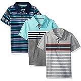 Simple Joys by Carter's 3-Pack Short Sleeve Polo Bebé-Niños, Pack de 3