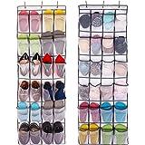 Aedo Rangement des Chaussures à Suspendre Derrière de Porte 24 Poches épargne d'espace Organisateur Collection de Chaussures