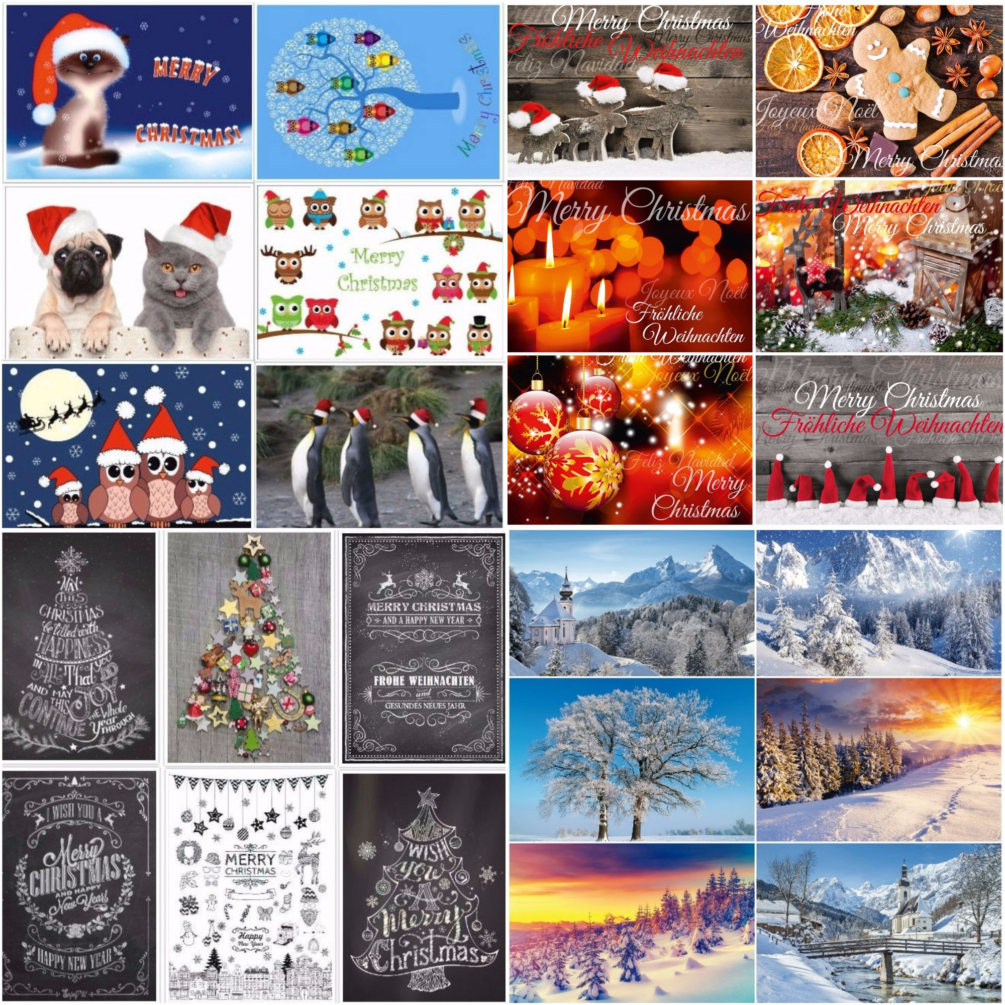 Weihnachtskarten Motive.Weihnachtskarten 24 Motive Ein Bunter Mix Aus Nostalgie Karten Grusskartenkaufen De