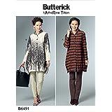 Butterick Patterns 6491ZZ Damen Shirt Schnittmuster, mehrfarbig, Größen groß–2x Große
