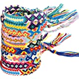 Zhanmai 10 Pezzi Braccialetti Tessuti Fatti a Mano Braccialetti di Amicizia Multi Colore Braccialetto Intrecciato per Polso a