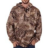 Realtree Mens Performance Camo Pullover Fleece