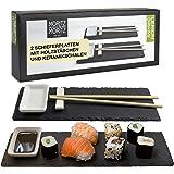 Moritz & Moritz Set per Sushi Lemongrass - 10 pz. per 2 Persone - Piatti da Sushi con Bacchette Banco di stoccaggio Bacinelle