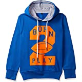 T2F Boys' Chest Printed Hooded Sweatshirt