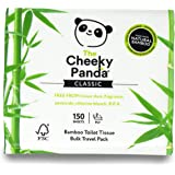 The Cheeky Panda – Bamboo Travel Toilet Tissue Paper | Pack of 150 Sheets (2-Ply) | Hypoallergenic, Eco-Friendly, Super Soft,