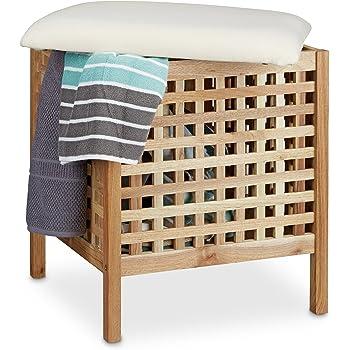 ts ideen badhocker mit sitzkissen sauna badezimmer sitz und w schekorb aus massivem walnuss holz. Black Bedroom Furniture Sets. Home Design Ideas
