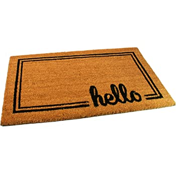Superbe Black Ginger Large, Thick, Decorative, Patterned Coir Door Mats With Nature  Designs (