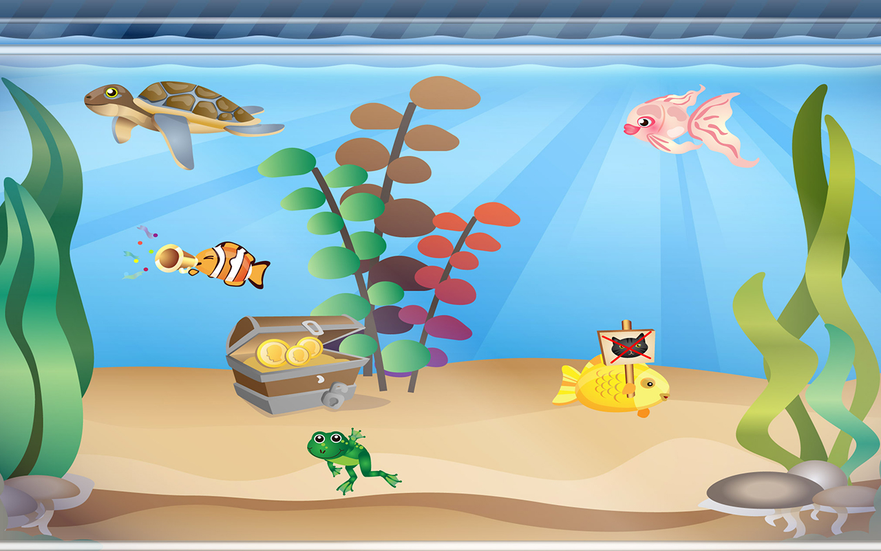 aquarium f r kinder von happy touch kinder apps apps f r android. Black Bedroom Furniture Sets. Home Design Ideas