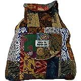GURU SHOP Rucksack Patchwork, Herren/Damen, Mehrfarbig, Baumwolle, Size:One Size, 40x35x13 cm, Ausgefallene Stofftasche