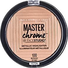 Maybelline New York Face Studio Master Chrome Metallic Highlighter, Molten Gold, 6.7g
