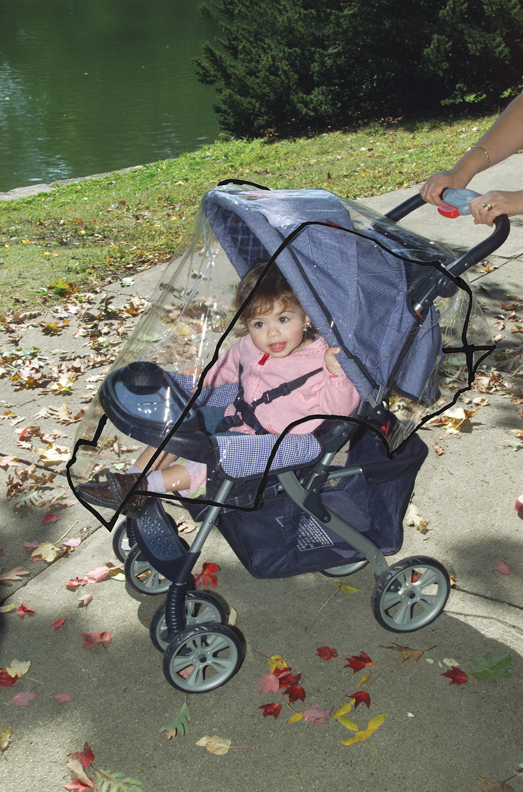 Dreambaby Stroller Weather Shade Dream Baby Transparent so that your child can still see out of the stroller clearly Made of a flexible plastic which is easy to wipe clean and dry off Fits most standard sized hooded strollers 3