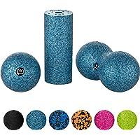 BODYMATE Faszien Mini-Set Mini-Faszien-Rolle L15xD6cm, Ball D8cm und Duo-Ball D8cm im Set