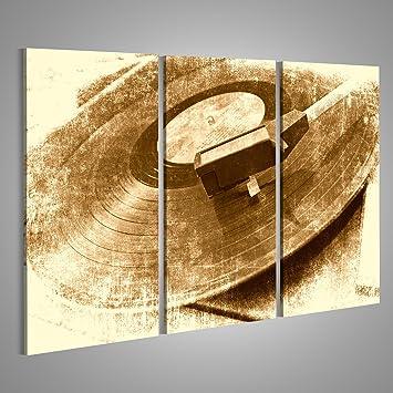 Bild Bilder Auf Leinwand Vinyl Schallplatte Vintage Plattenspieler