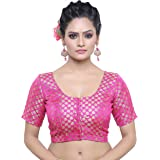 MADHU FASHION's Traditional Rich Banaras Brocade Stitched Readymade Non-Padded Blouse