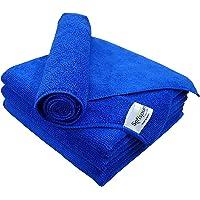 SOFTSPUN Microfiber Cloth - 4 pcs - 40x40 cms - 340 GSM Blue - Thick Lint & Streak-Free Multipurpose Cloths - Automotive…