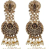 Shining Diva Fashion Latest Meenakari Peacock Traditional Earrings for Women and Girls