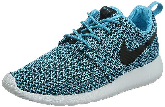 nathc Nike Women\'s Roshe One Trainers Blue Blau (Clearwater/Black-White