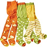 WELLYOU leotardos para bebés/niños, medias para chicas/chicos, pantimedias para bebés/pantimedias para niños verde/blanco pun