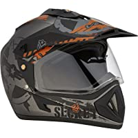 Vega Off Road D/V Secret Dull Anthracite Black Helmet-M