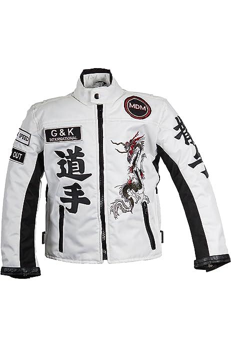 Mdm Racing Jacke Weiß Für Kinder Motorradjacke Aus Textil Bikerjacke Bekleidung