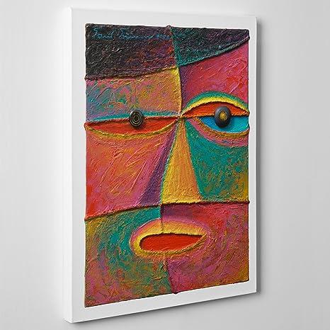 Quadro moderno su tela canvas   arte astratta   cubismo style ...